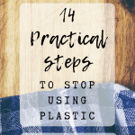 Pin Image 1 - practical steps to stop using plastic; tips and ideas for reducing plastic waste