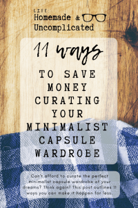 Pin Image 1 - minimalist capsule wardrobe; tips to save money