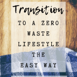 Pinterest Pin Image 1 - Transition to a zero waste lifestyle; tips for going zero waste, ideas to eliminate waste