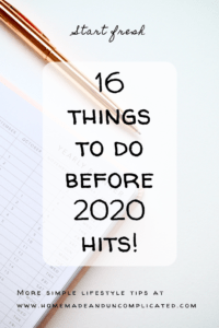 Pin image - things to do before 2020; new years resolution; what to do before new years eve; goal setting